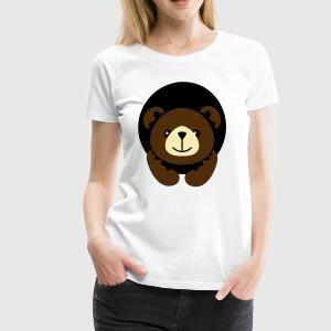 Bear in a Hole Women's T-Shirts - Women's Premium T-Shirt