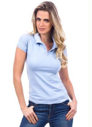 cfbb905232 Camisa Polo Feminina Azul Colombo - Posthaus
