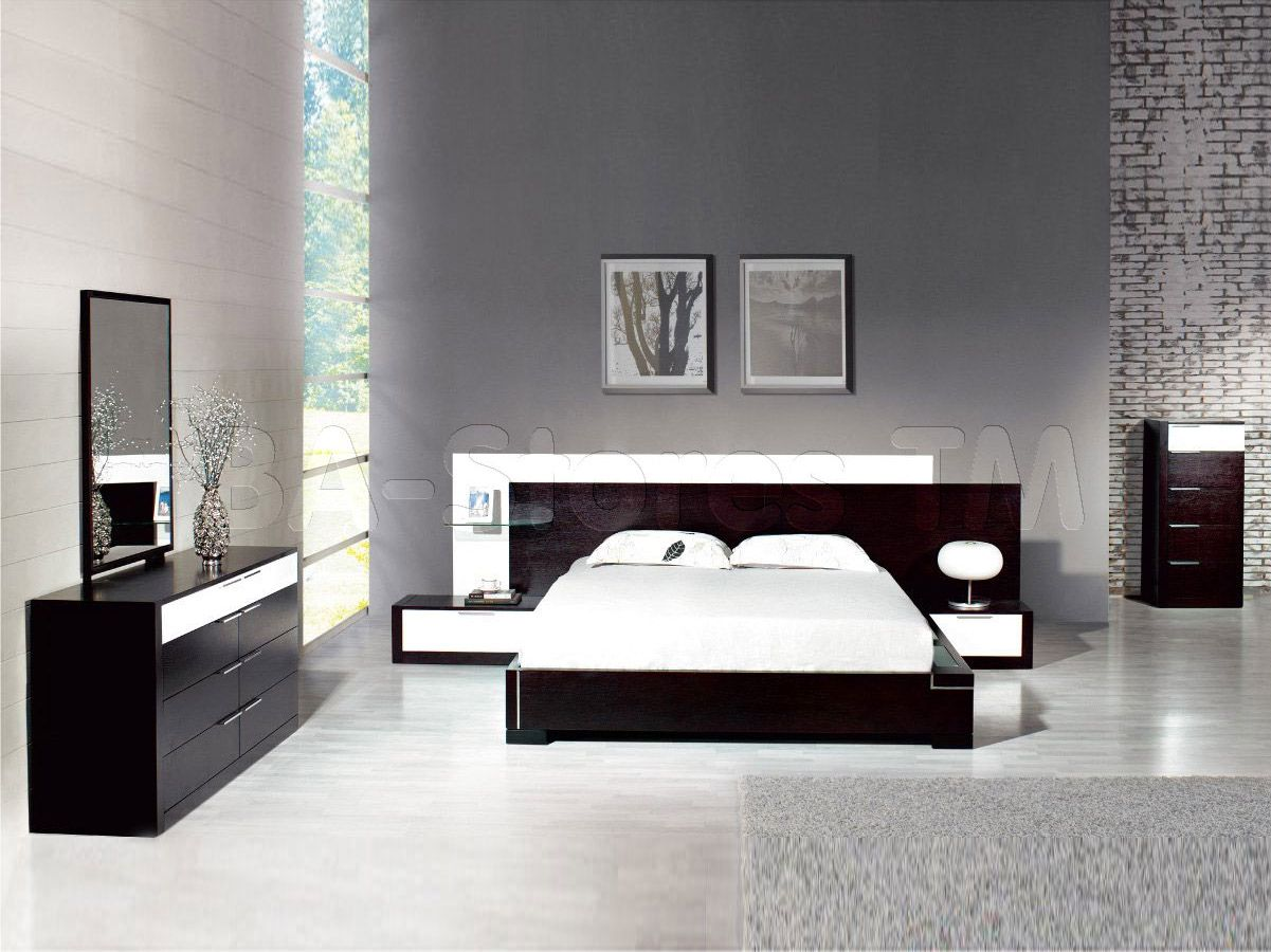 Elegant Quality Modern Bedroom Sets with Extra Long Headboard ...
