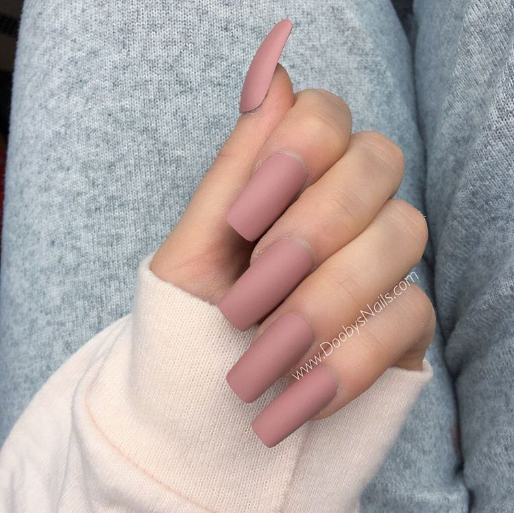Rose matte long square coming soon ... oh this shade ️ ...