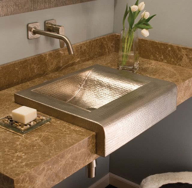 In A Brushed Nickel Finish, The Palisades Turn The Corner On Tradition With  This Contemporary Bathroom Sink Variation On The Popular Farmhouse Sink  Thatu0027s ...