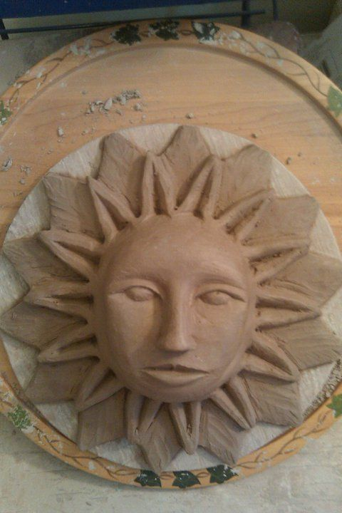 Clay Aztec Sun God My Diys Made By Me For Me D In