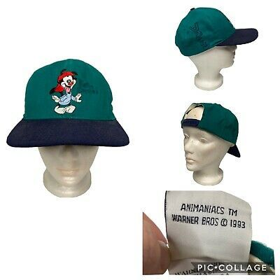 Vintage Animaniacs Snapback Hat Warner Bros 1993 Pinky and the Brain Wacko Yakko | eBay