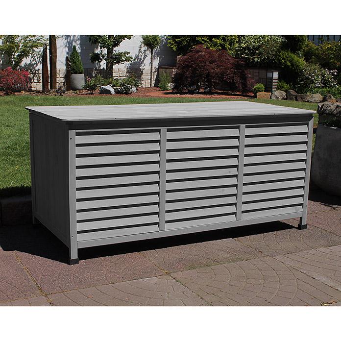 Leco Garten Aufbewahrungsbox Vintage 130 X 64 X 60 Cm Holz Dunkelgrau Bauhaus In 2020 Kissenbox Garten Garten Kaufen Bauhaus