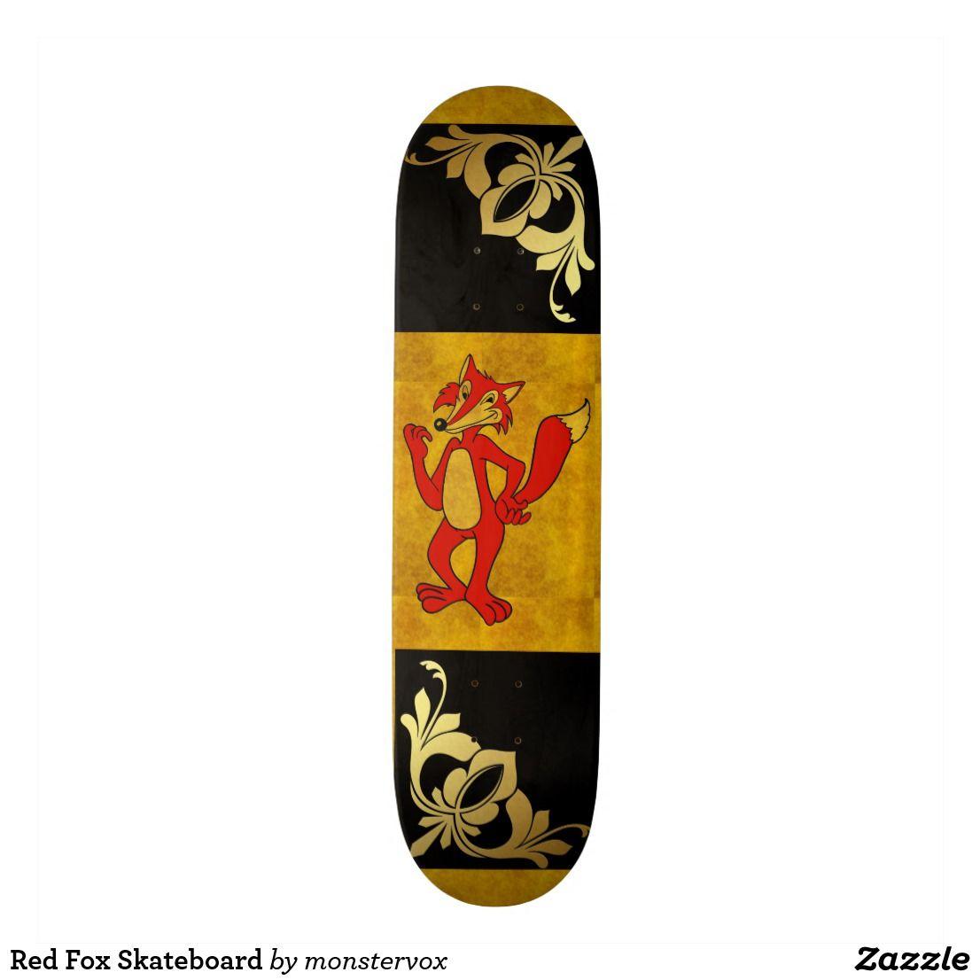 Red Fox Skateboard Zazzle Com Red Fox Skateboard Fox