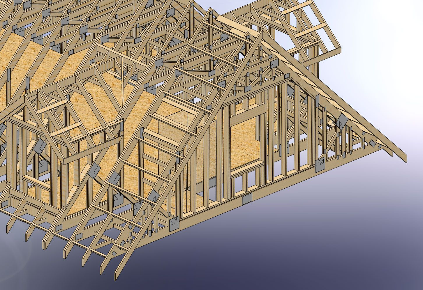 48x28 Garage With Attic And Six Dormers Carpentry