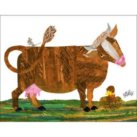 Oopsy Daisy - Eric Carles Cow and Friends Canvas Wall Art 18x14, Eric Carle