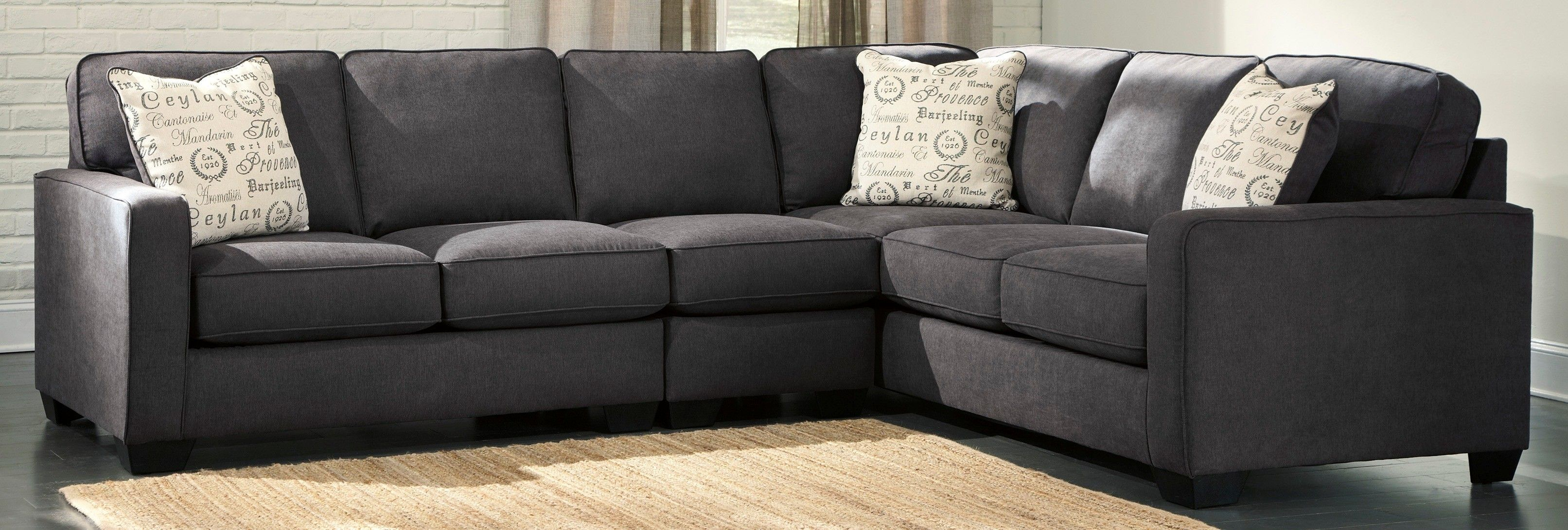 Ashley Alenya Charcoal Right Side Sofa Sectional