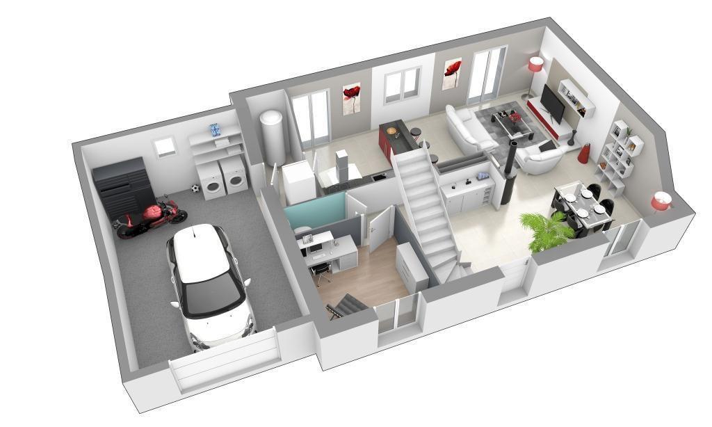 Maison - Jardin Secret - Maisons Axial - 133848 euros - 119 m2 - faire son plan de maison en 3d