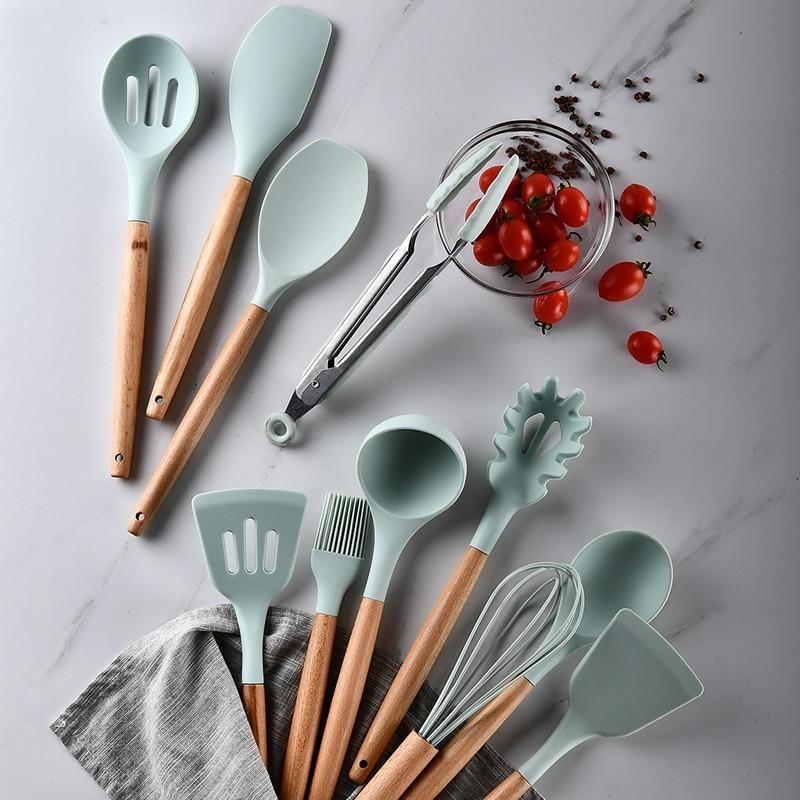 Ultimate Kitchen Utensil Set 12pcs Silicone Cooking Utensils Silicon Utensils Silicone Kitchen Utensils