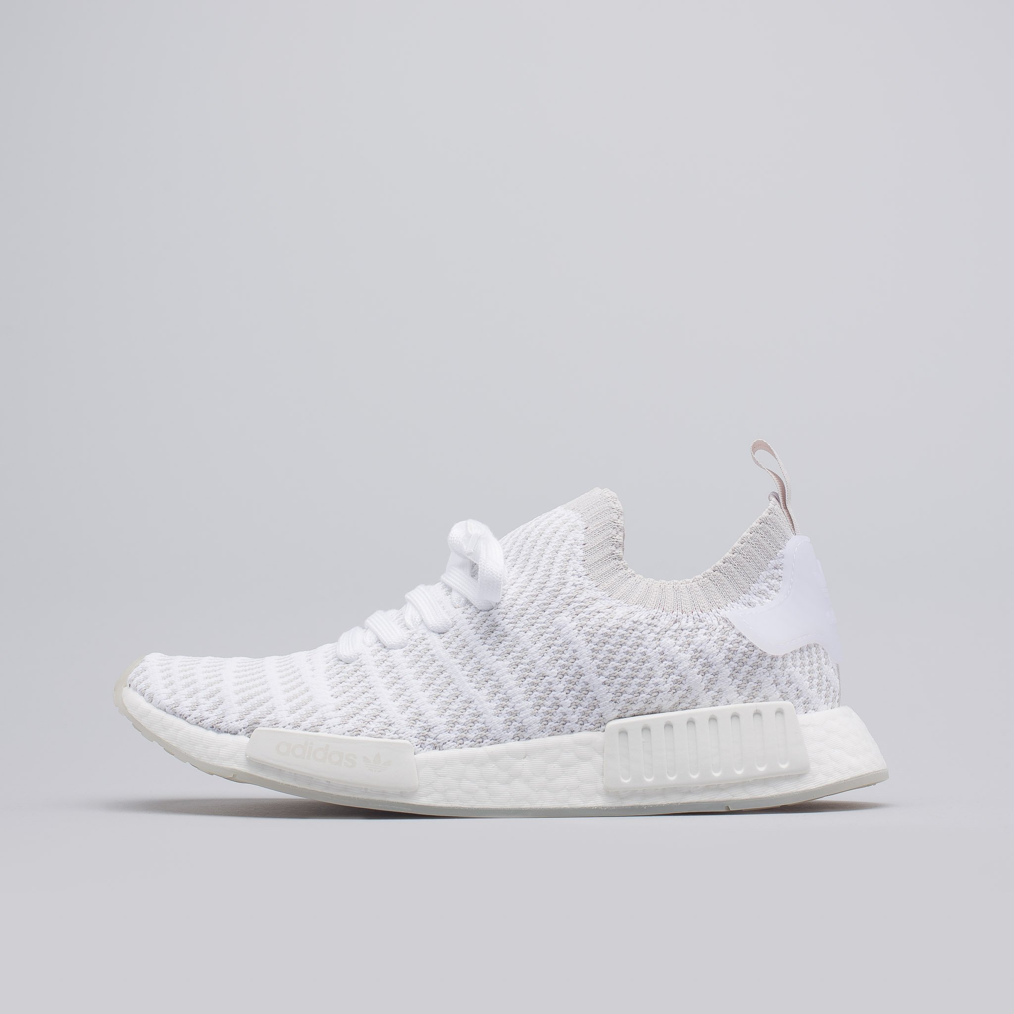 NMD R1 STLT Primeknit in White | Nmd r1, Nmd, Sneakers