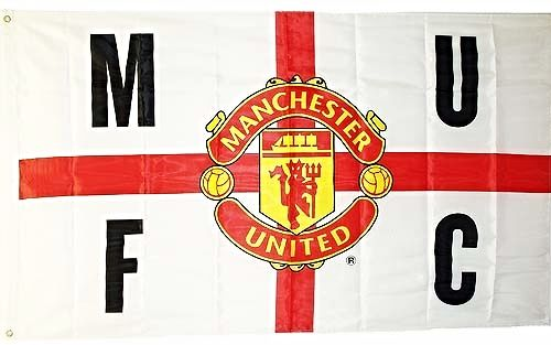 Manchester United Mufc Club Crest St George Large Flag 5ft X 3ft