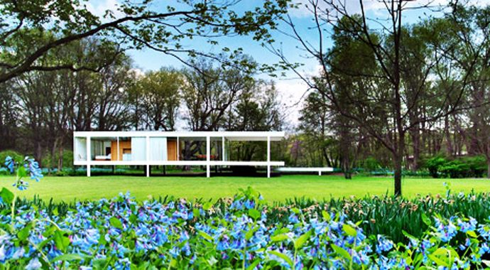 Farnsworth House: An Amazing House by Mies Van der Rohe