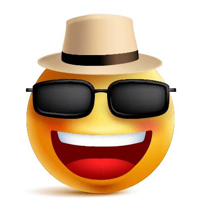 Hat And Shades Funny Emoji Faces Funny Emoji Funny Emoticons
