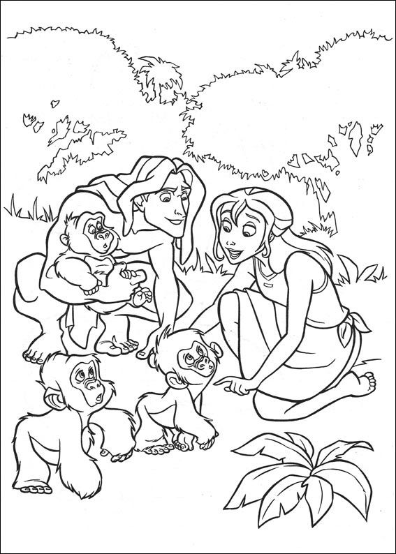 Malvorlagen Tarzan 32 | Vorlagen | Pinterest | Ausmalbilder ...