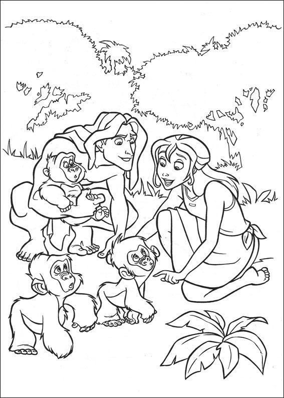 Malvorlagen Tarzan 32   Disney   Pinterest   Ausmalbilder, Disney ...