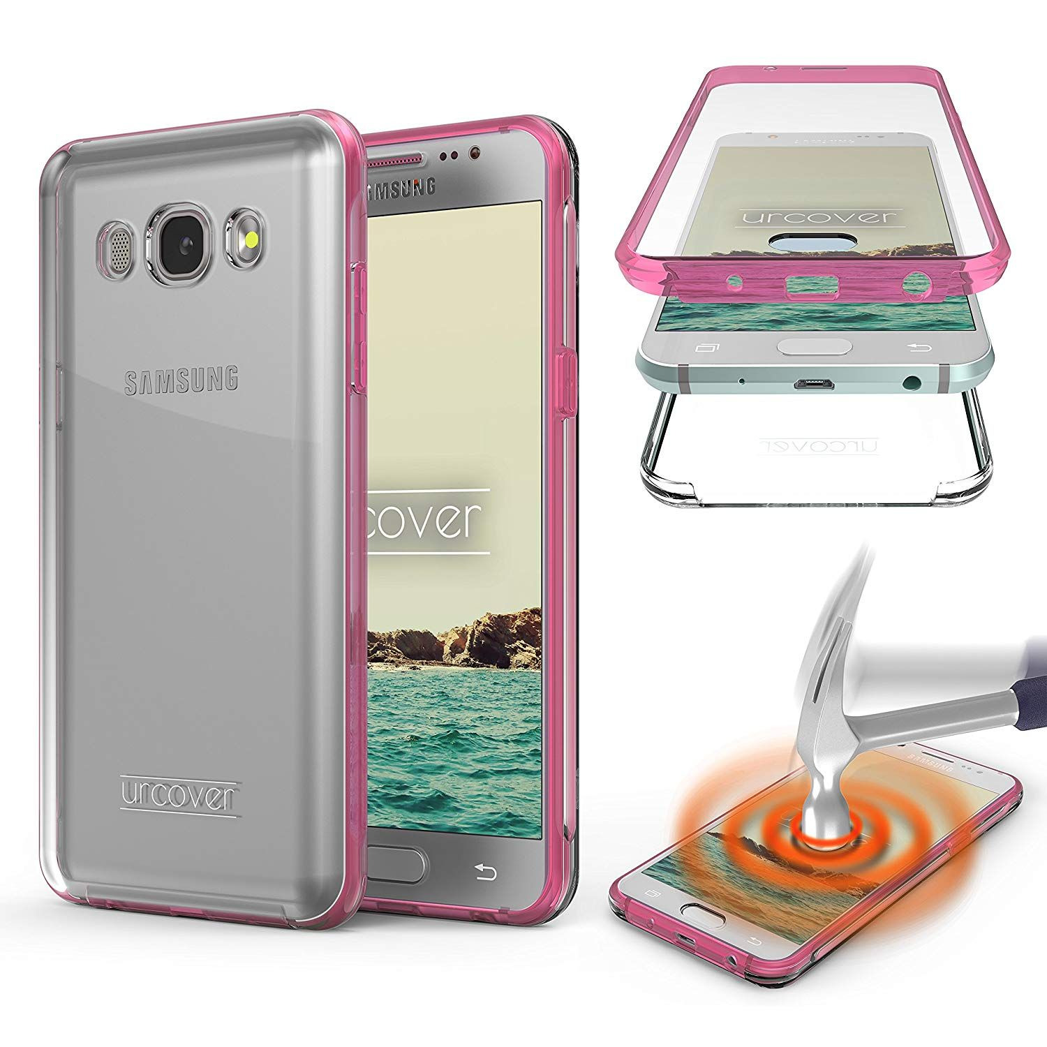 coque rose samsung galaxy s6 edge urcover