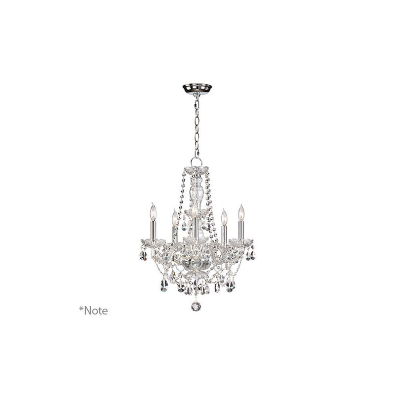 Quorum International 630-5-6 Bohemian Katerina 5 Light 1 Tier Candle Style Chand Chrome Indoor Lighting Chandeliers