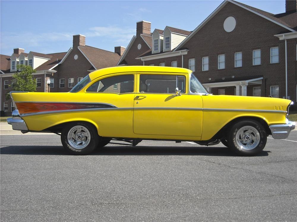 1957 CHEVROLET 210 CUSTOM 2 DOOR SEDAN 97879 1957
