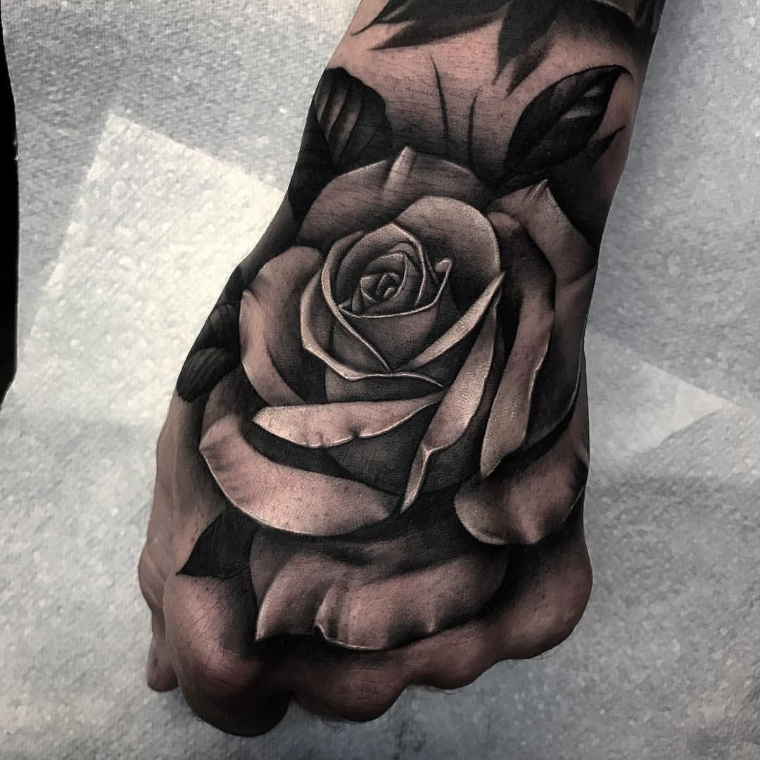 Nothing fits the hand better than a rose 🌹 tattoo