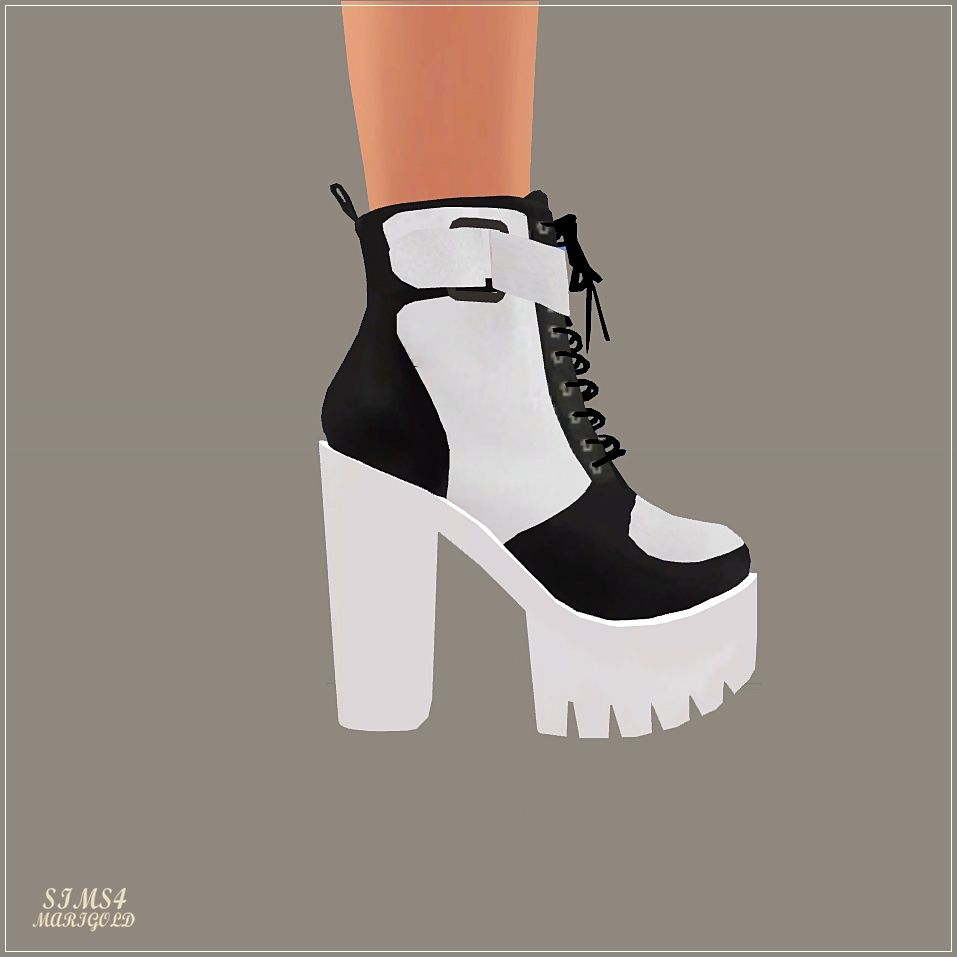 Chunky Sneakers Heels_청키 스니커즈힐_여자 신발 - SIMS4 marigold