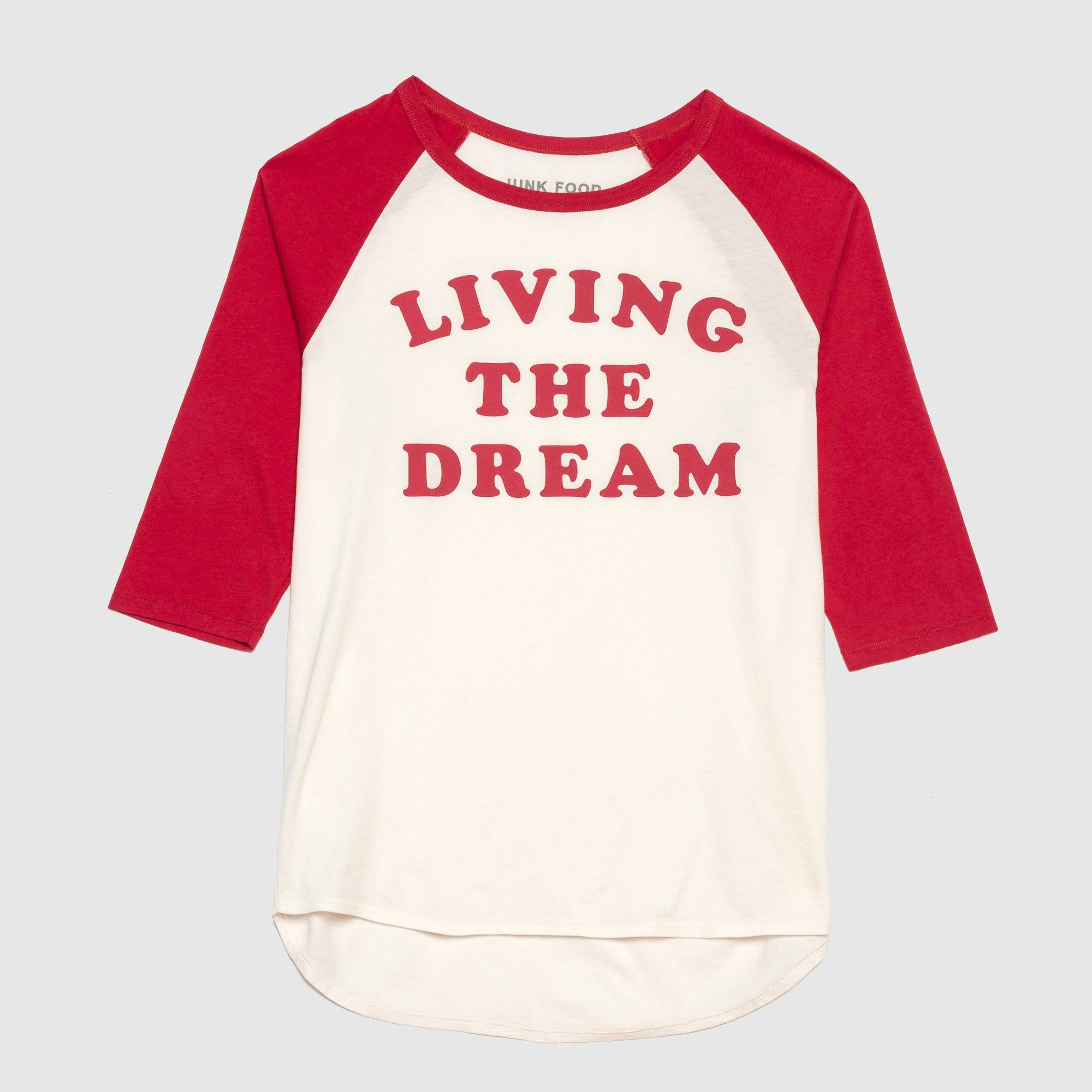 2b2ec5081 Women's Short Sleeve Living the Dream Raglan T-Shirt - Junk Food (Juniors')  White XL