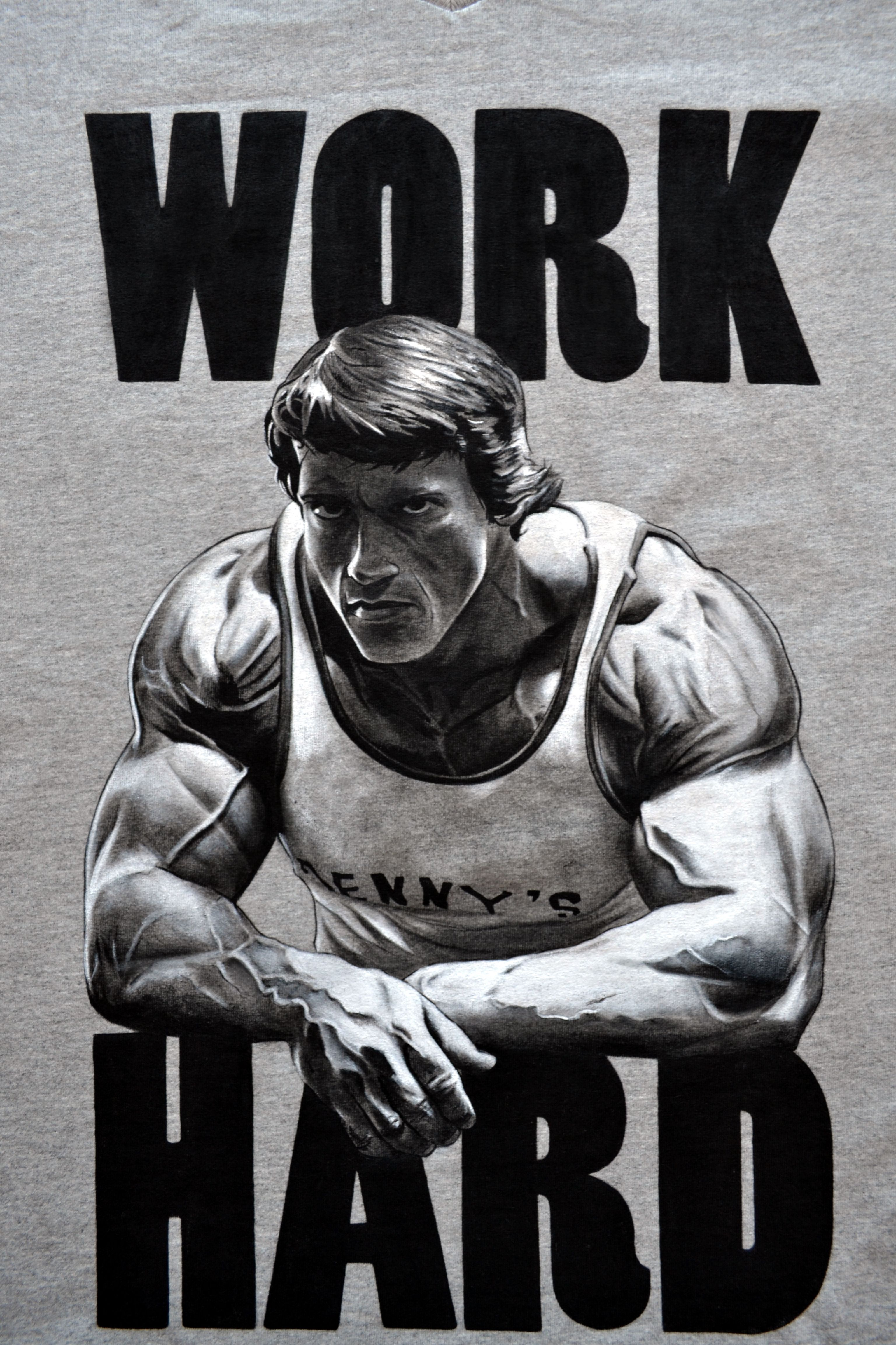 Estampa Arnold Schwarzenegger Work Hard Fitness Motivation Inspiration Fitness Motivation Body Schwarzenegger Bodybuilding