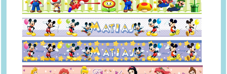 sticker para muros paredes recamaras infantiles cenefas a accesorios para