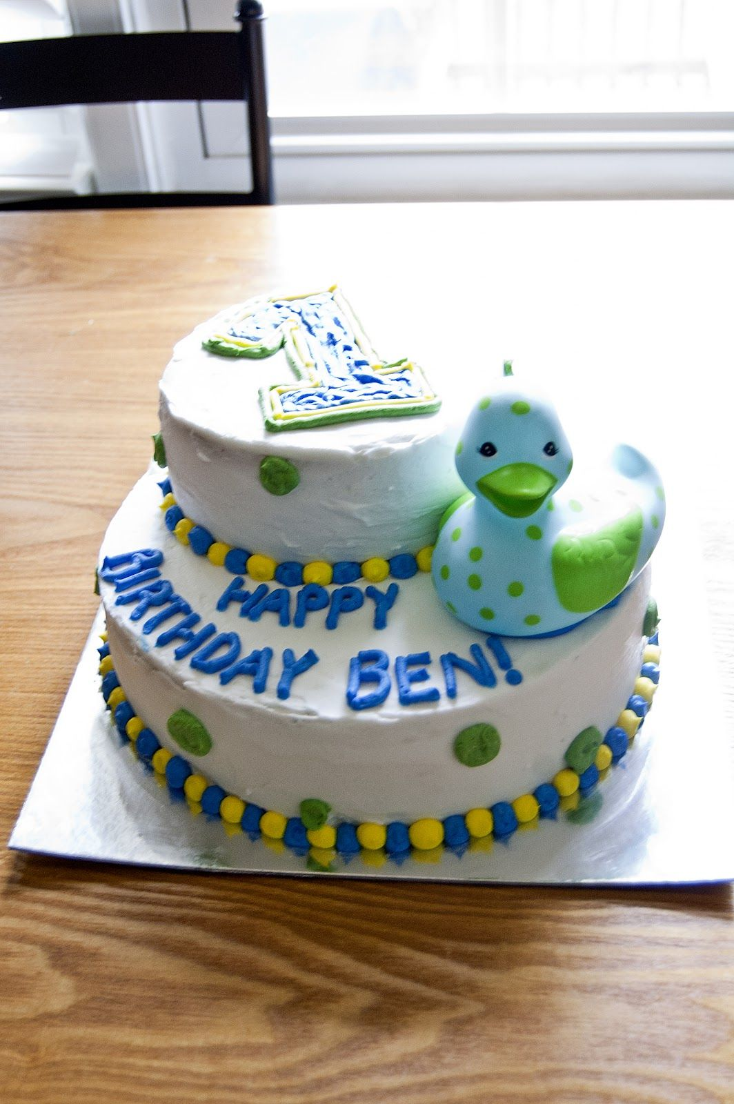 Baby Boy Birthday Cake Ideas She did not do a theme for the party