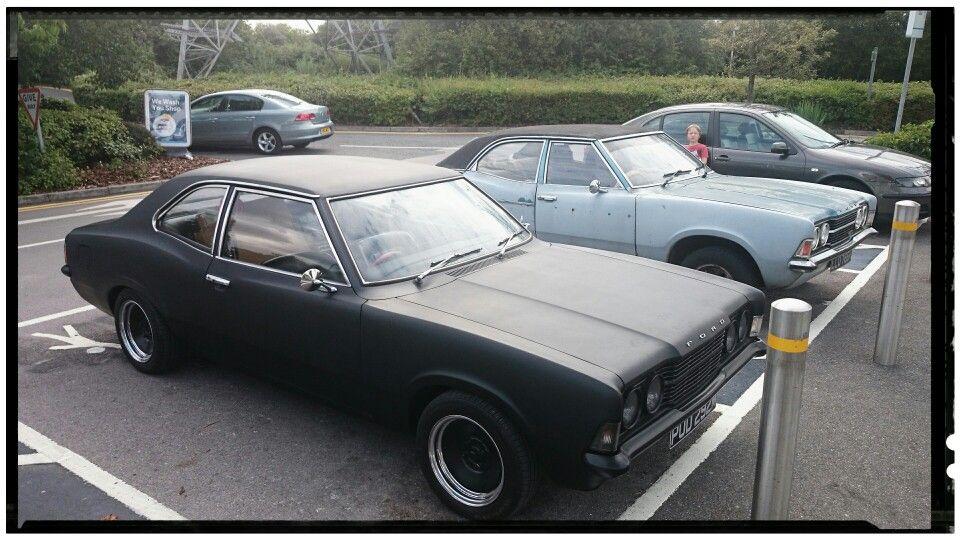 My Ford Cortina Mk3 2 0gt Matt Black Modified Cars Car Manufacturers Ford Lincoln Mercury