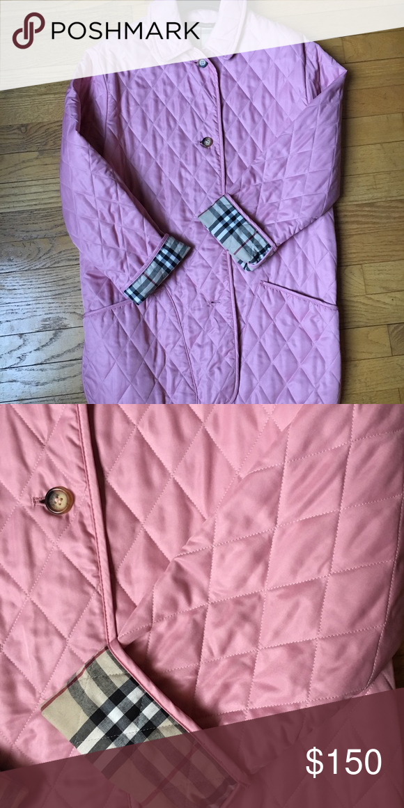 Burberry London Pink Quilted Jacket Quilted Jacket Burberry London Quilted