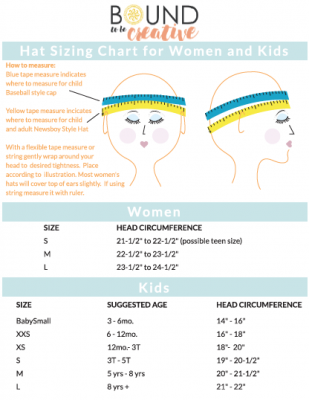 How To Measure Your Head For The Best Fit Bound To Be Creative Baby Hat Sizes Crochet Hat Sizing Crochet Ear Warmer