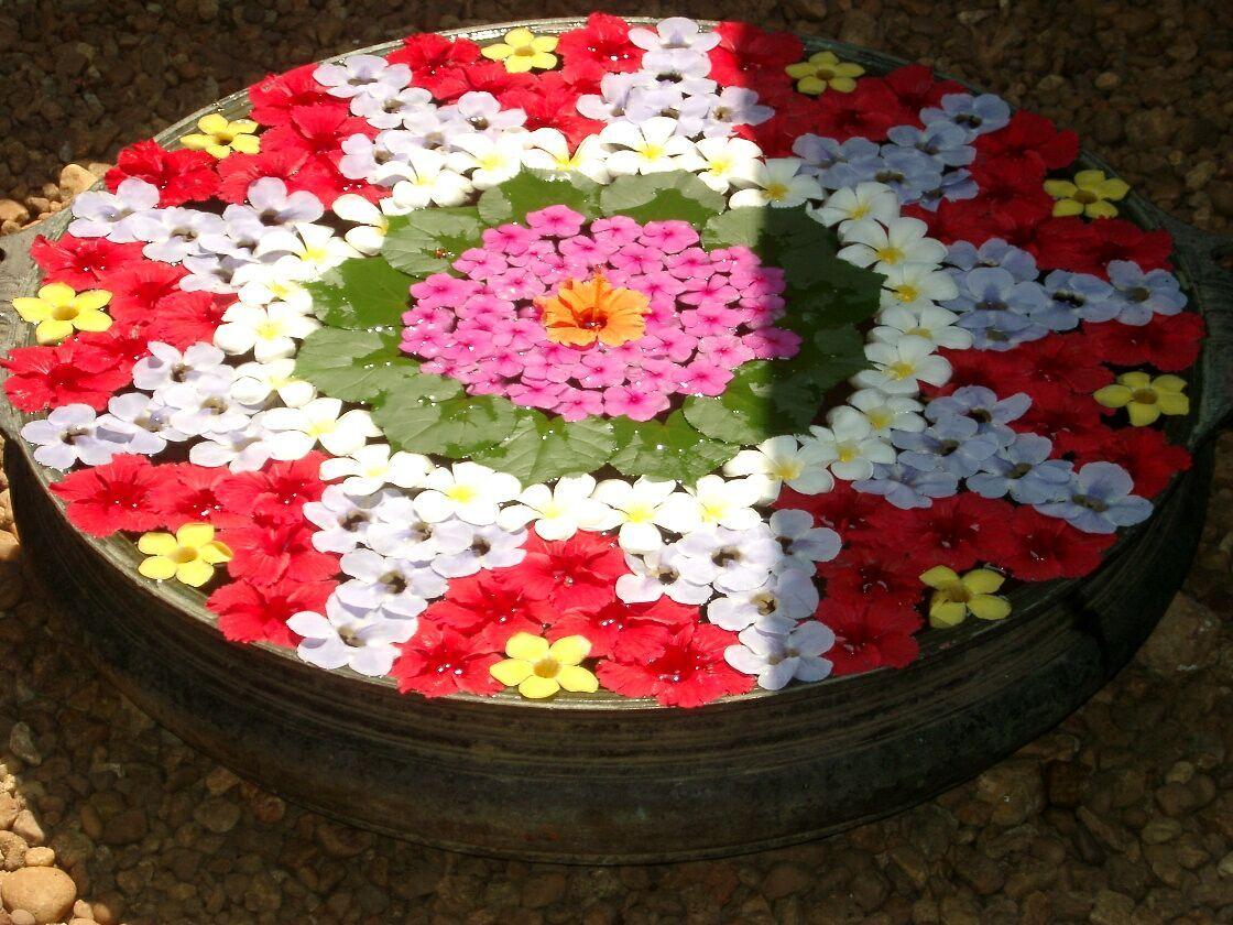 Water Rangoli Designs Rangoli Floating Flowers Floating