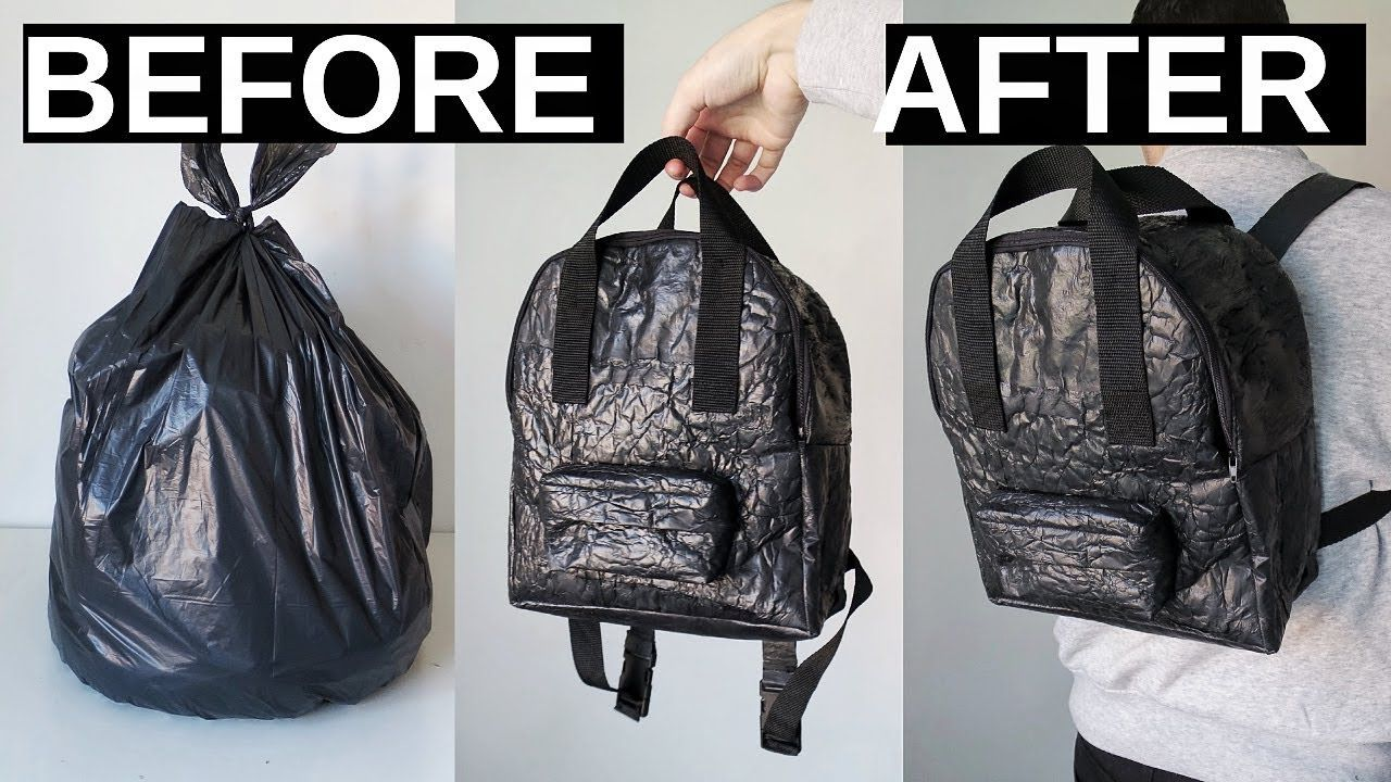 Making A Backpack Out Of Trash Bags Diy Mini Backpack Youtube Mini Backpack Diy Diy Backpack Backpacks