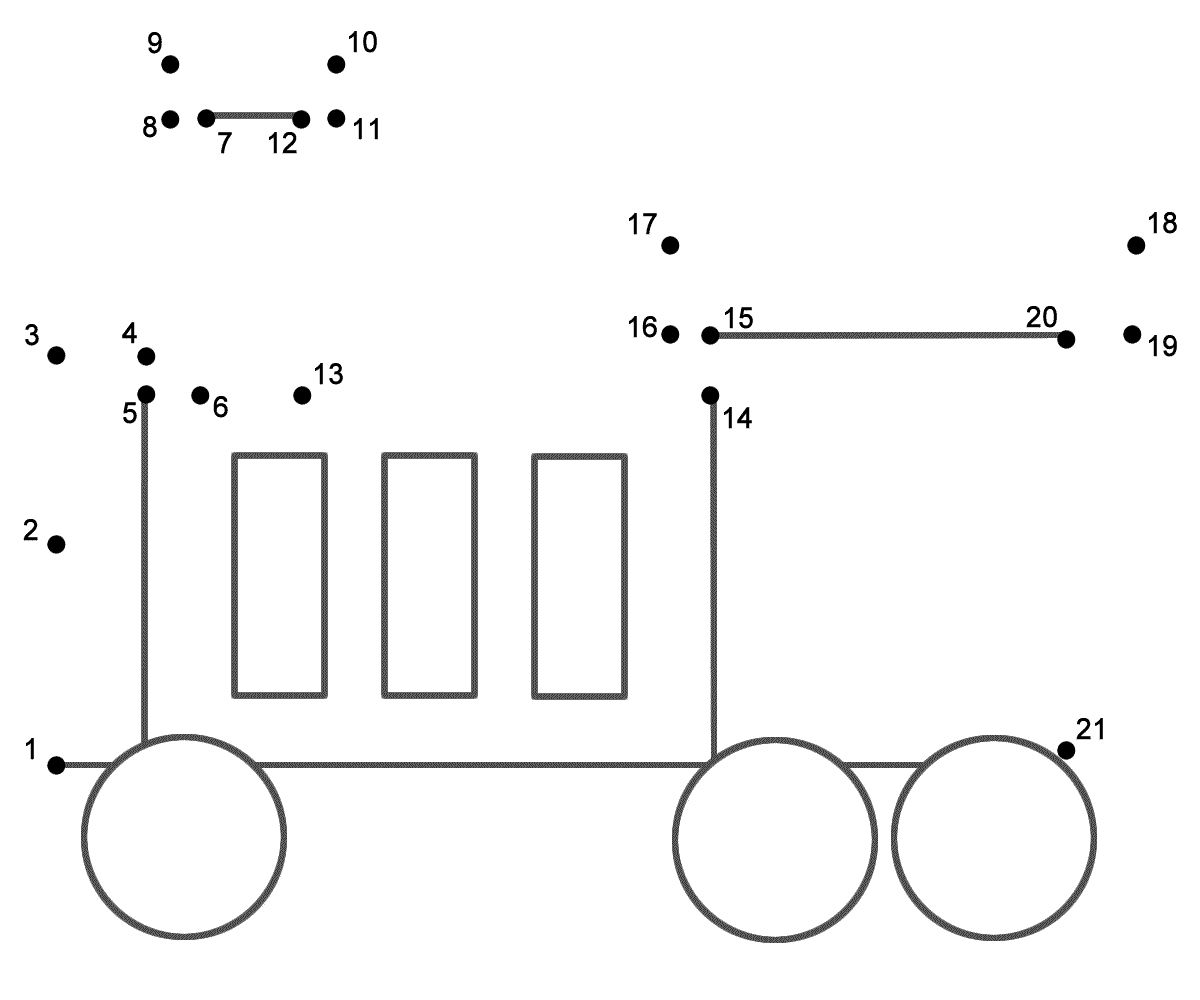 Train 1 Connect The Dots Count By 1 S Transportation