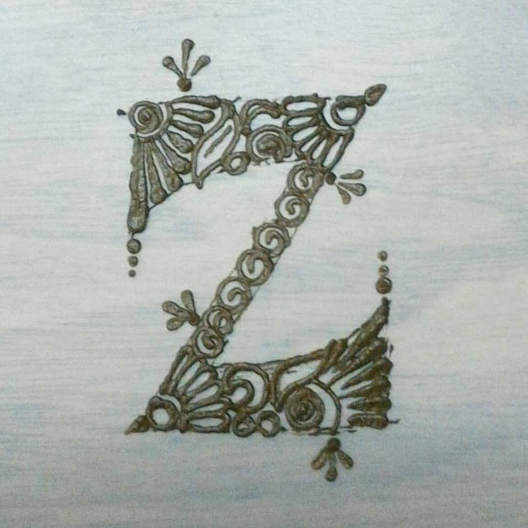 z letter letters alphabet alphabets henna mehndi