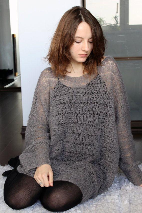 281cbb6ea7d Loose mohair sweater dress plus size long sweater  mohairsweater   longsweater  oversizedsweater