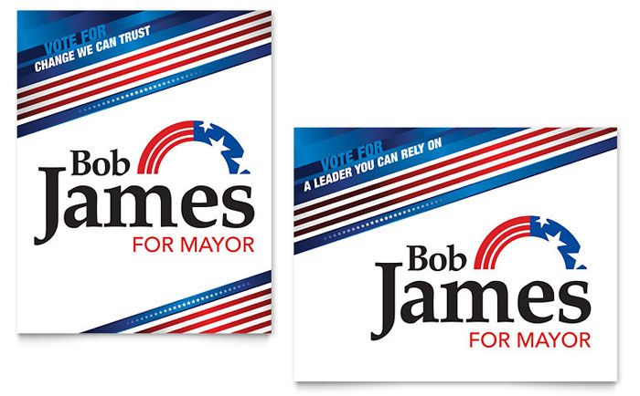 Political Campaign Poster Design Template by StockLayouts - political brochure