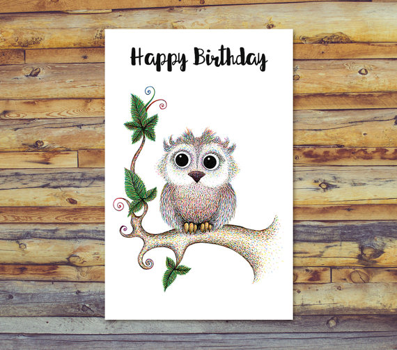 Owl Birthday Card, Printable Cards, Happy Birthday, Birthday Card