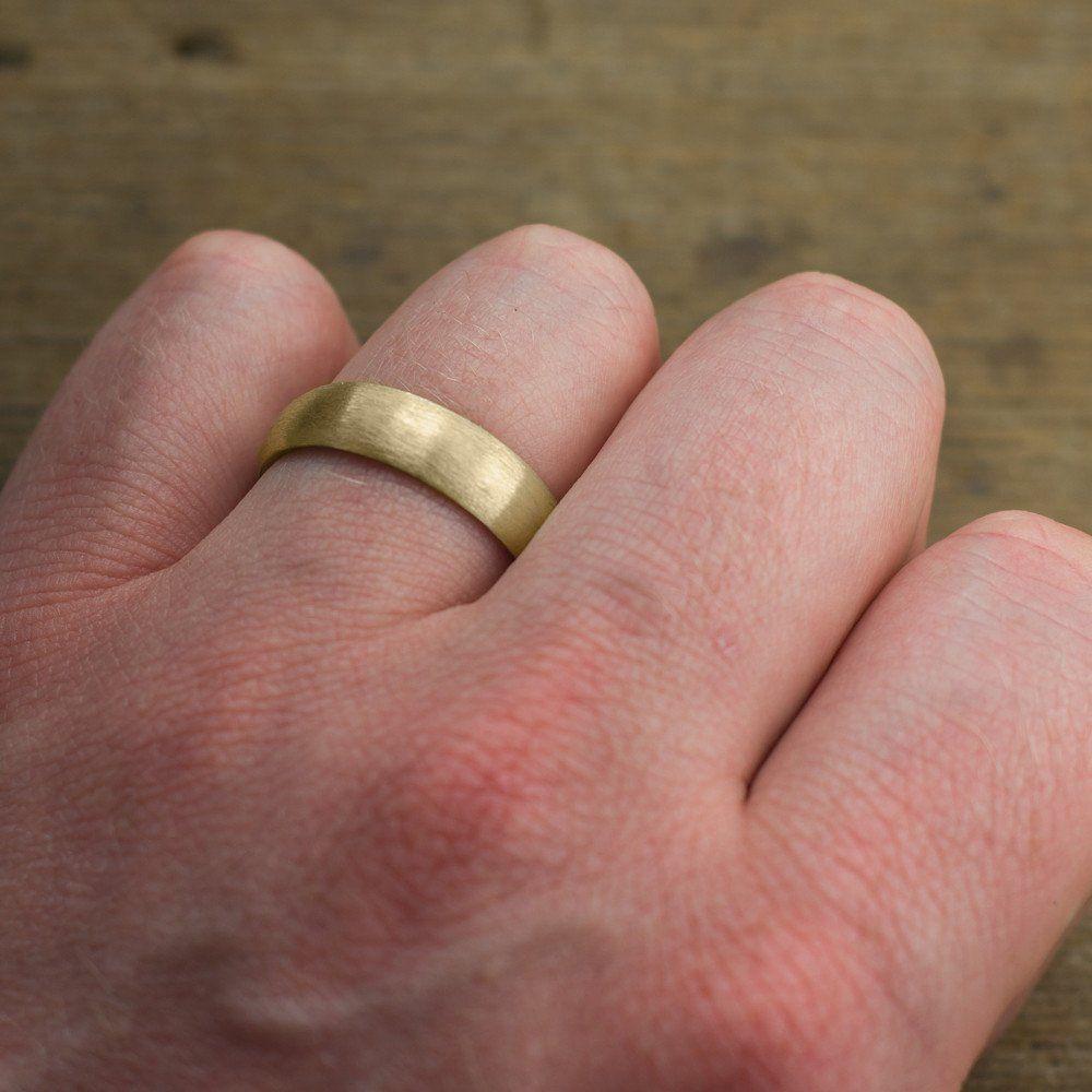 6mm 14k Yellow Gold Wedding Band Half Round Matte Finish Yellow Gold Wedding Band Mens Yellow Gold Wedding Bands Mens Wedding Bands White Gold