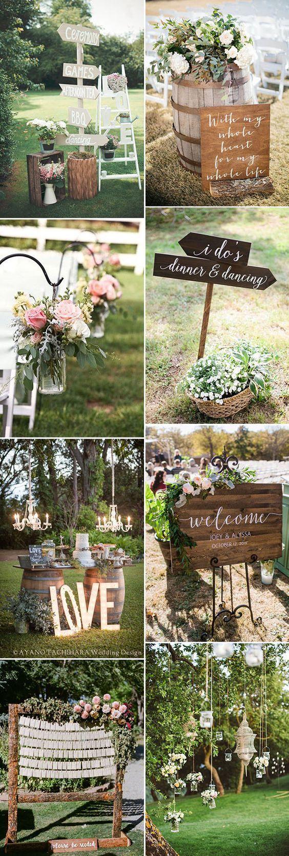 amazing garden wedding decor ideas that are easy to DIY  Outdoor