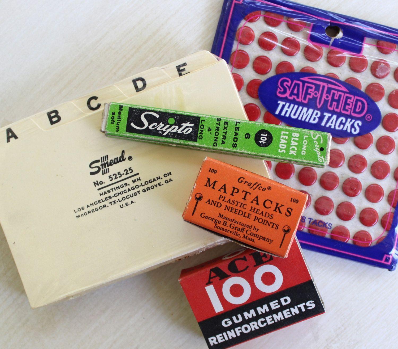 Awesome Retro Office Supplies (Ace, Scripto, Smead, Graffco, Saf T