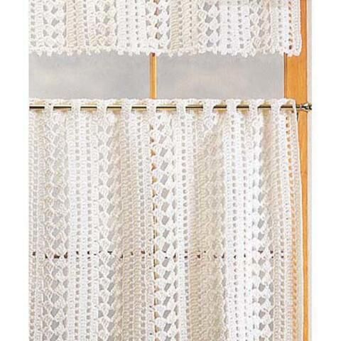 Easy Crochet Curtain Patterns Free Kitchen Curtain Filet Crochet