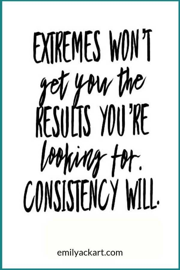 Exercise consistency gets results. Don't focus on extreme diets or trends like Keto, Atkins, or Pale...
