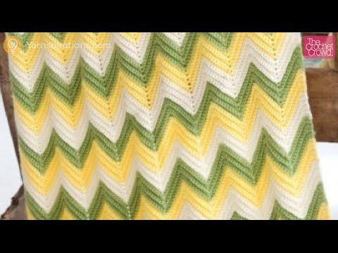 Crochet Baby Zig Zag Afghan - YouTube | Croche tutoriales y graficos ...