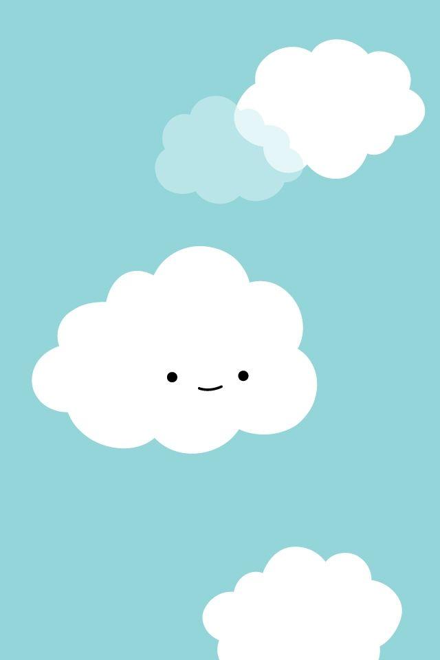 Cute Clouds Iphone Wallpaper 640 960 112768 Hd Wallpaper Res Wallpaper Iphone Cute Cute Wallpaper For Phone Iphone Wallpaper
