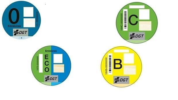 La DGT distribuirá pegatinas para los coches según su nivel de contaminación