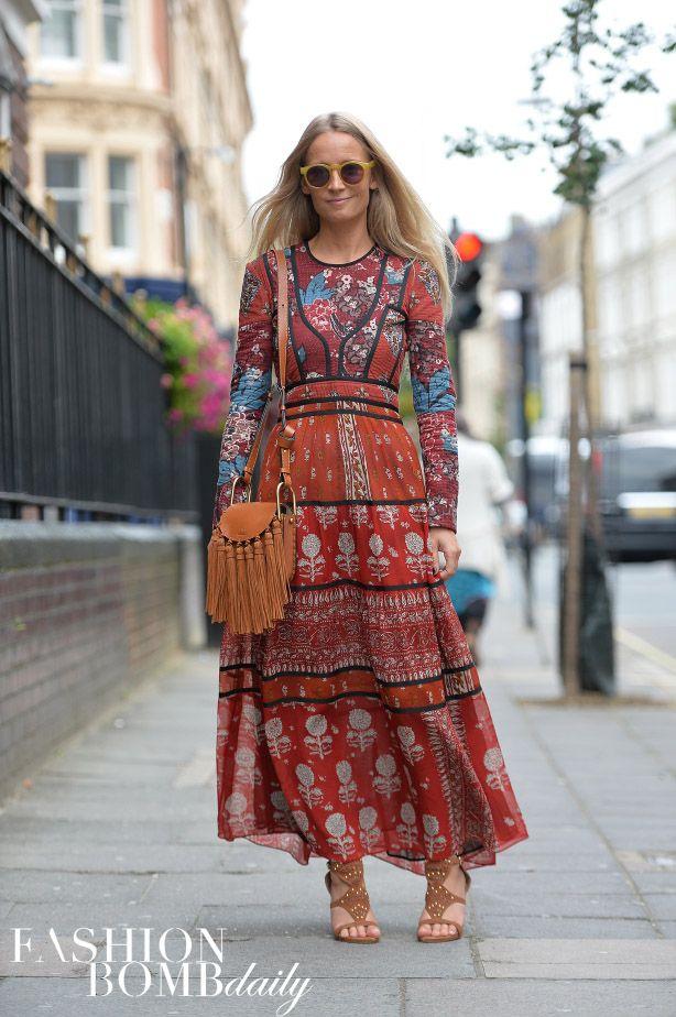 Real Street Style London Spring 2016 Fashion Week Part 3 The Fashion Bomb Blog Celebrity Fashion Fashion News What To Wear Runw Hippie Kleidung Kleidung