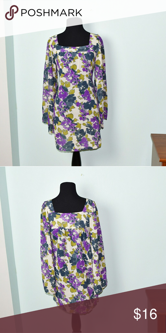 Gorgeous Green and Purple Print Flowy Dress In excellent condition! Very comfortable, soft, and flattering! Buy 3 items and get 1 free plus 15% off your purchase total! Dresses Mini