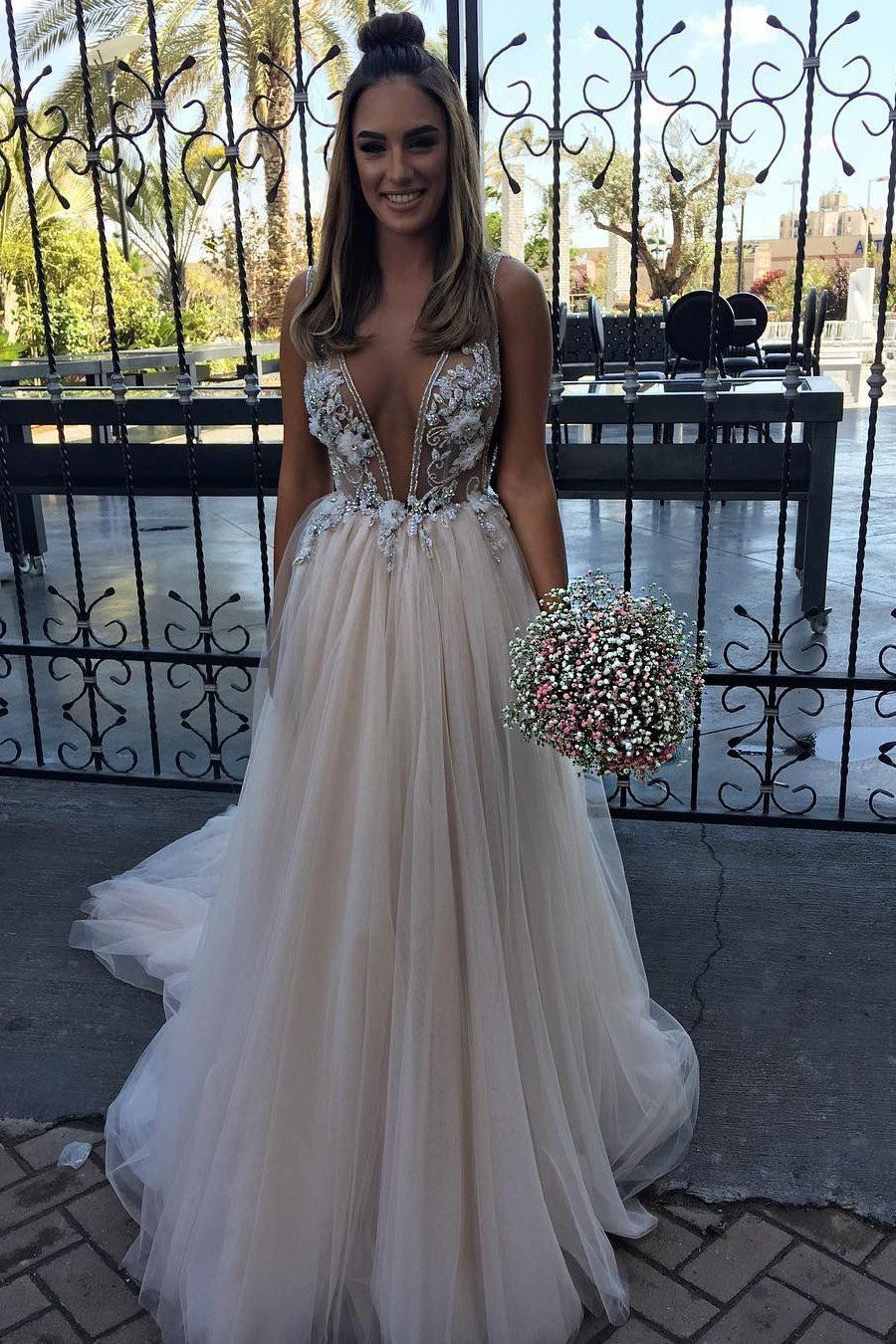 38+ Plunge neck wedding dress uk info